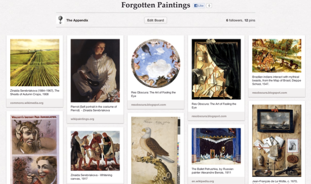 """Forgotten Paintings"" Pinterest on The Appendix"