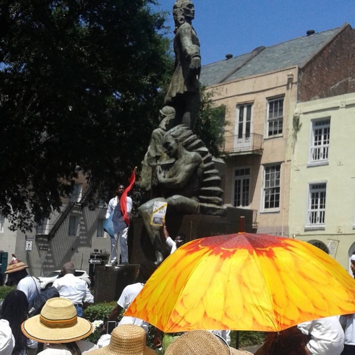2015 Maafa confronts Bienville. #nola   2015 July 4   Snapped by me