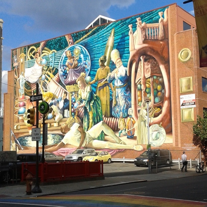 Me: What is happening here? Mural: *whispers* All of the things (Snapped by Jessica Marie Johnson   September 9, 2015)