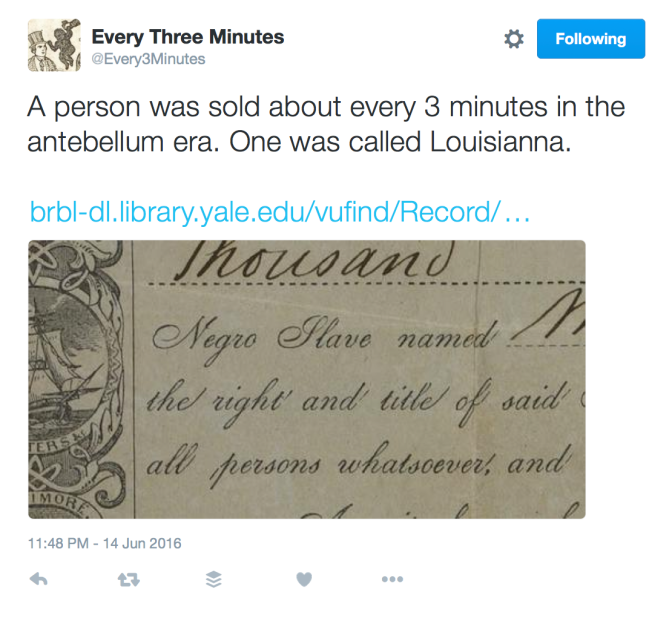 every_three_minutes_on_twitter___a_person_was_sold_about_every_3_minutes_in_the_antebellum_era__one_was_called_louisianna__https___t_co_f8xtl0ogmi_https___t_co_exb3chuwr6_1