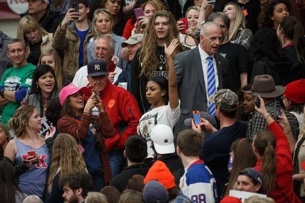 A protester disrupted and was removed from a Trump rally in Virginia on Monday. Credit Damon Winter/The New York Times