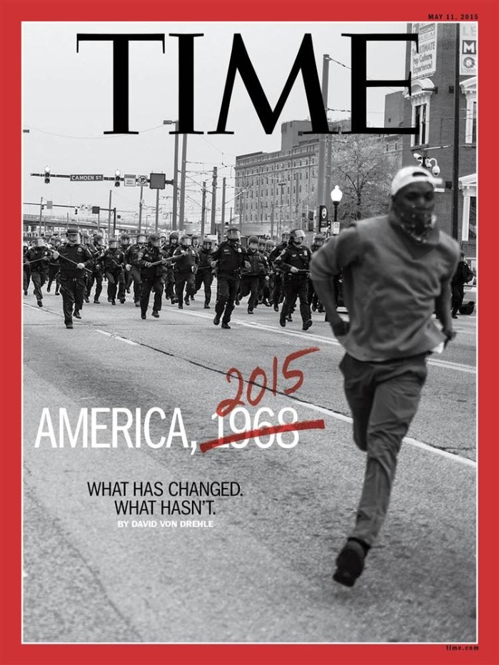 Devin Allen, Baltimore Uprising, cover of Time Magazine, May 2015