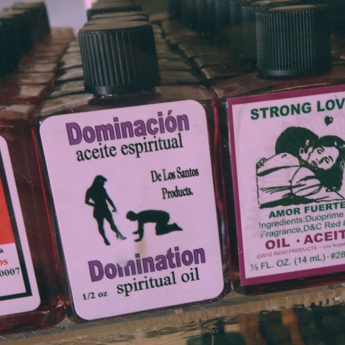 dominación: aceite espiritual - as seen in New Orleans, 2015, snapped by Jessica Marie Johnson